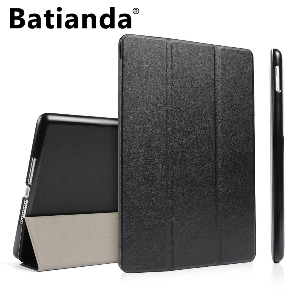 For New iPad 9.7 inch 2017 2018 model PU Leather Smart Case Hard Back Cover Auto Sleep/Wake Ultra Slim Folding Flip Stand Cover mooncase side flip hard board slim leather bracket window чехол для cover microsoft lumia 530 чёрный