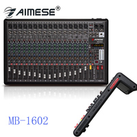MB 16 16Channel Microphone Digital Sound Mixing Amplifier Console Pro Karaoke Audio Mixer With USB MP3 48V Phantom Power
