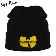 426146f0c3409 High Quality WU TANG CLAN Men s Hats Unisex Winter Warm Casual Beanie Hat  Women Hip Hop Black Knitted Bonnet Ski Gorros Toca