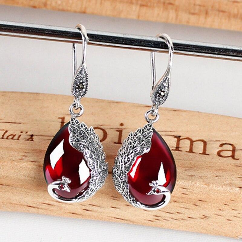 2018 High red earring earring Quality Vintage Wedding Accessories gift handmade Jewelry Earring For Women Drop Earrings Stone