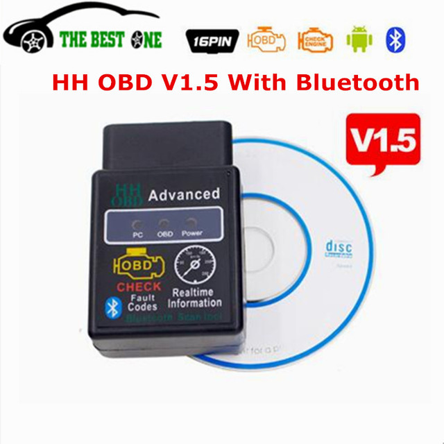 US $5 0 |Free Shipping HH OBD V1 5 ELM327 Bluetooth OBD2 OBDII CAN BUS Car  Diagnostic Scanner Tool Interface Adpater ELM 327 1 5 HH OBD2-in Code