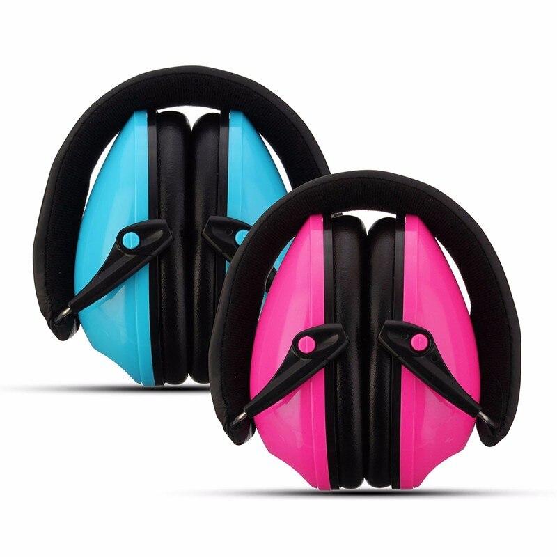 Nuevo cómodo Protectores auditivos para niños anti-ruido protección auditiva Orejeras auricular orejera insonorizadas azul rosa