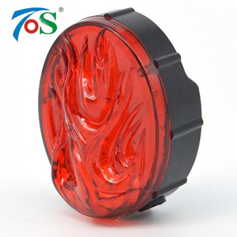 TOS Recargable Super Brillante 10 LED de bicicletas luz Trasera Luz Llama bicicl