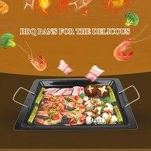 30x25 см с антипригарным покрытием барбекю кастрюли легкоочищающийся вересковый прочный сковороде delicous барбекю сковородки