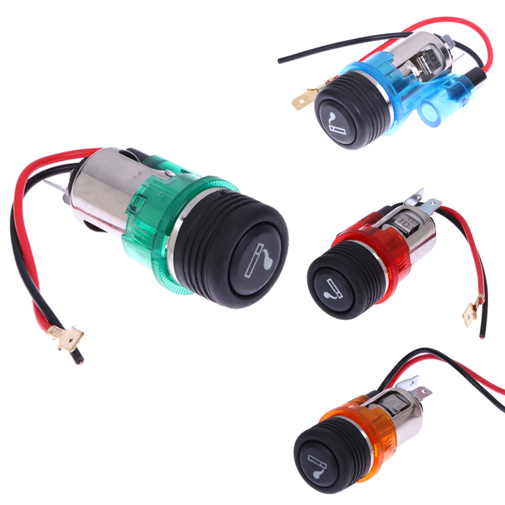 Zuczug Car Red Cigarette Lighter Plug Assembly 1j0919307 For Vw Eos 2015 Jetta Interior Fuse Diagram 12v 120w Motorcycle Boat Power Socket Out Universal High Quality
