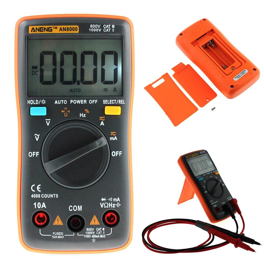 ANENG AN8000 Digital Multimeter 4000 Counts AC/DC Auto Range Ohm Ammeter Tester цены