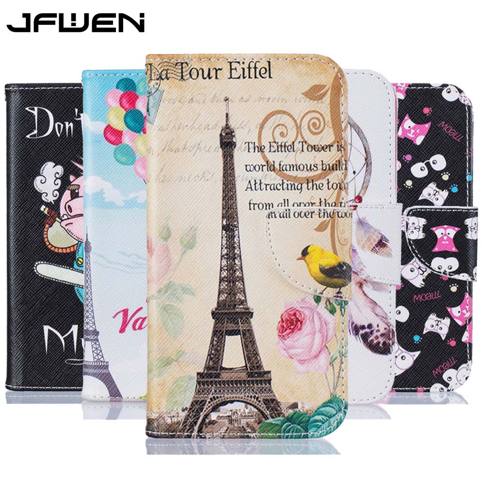 For Coque Samsung Galaxy J1 2016 Case Wallet Flip Cover Luxury Painted PU Leather Case For Samsung Galaxy J1 2016 j120 j120f 4.5 ...