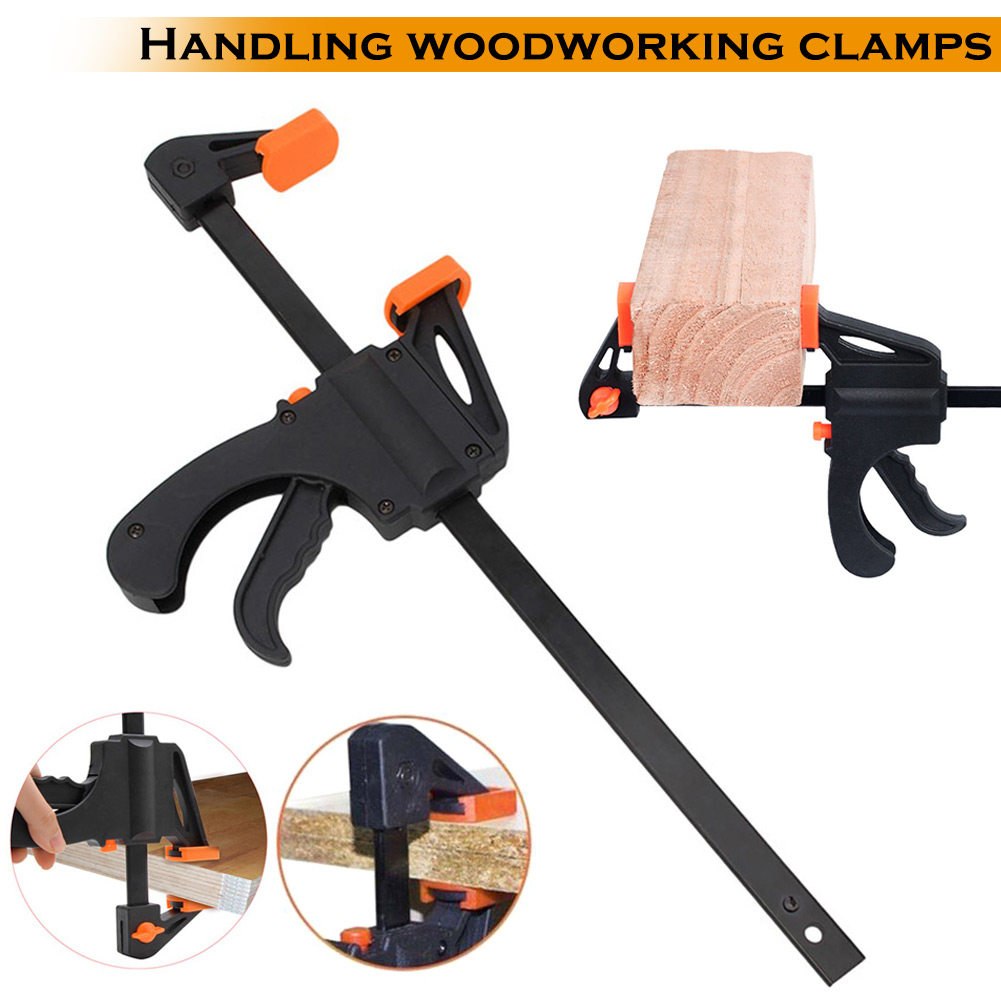 4 6 8 10 Inch F Shape Woodworking Clamp Quick Release Diy Wood