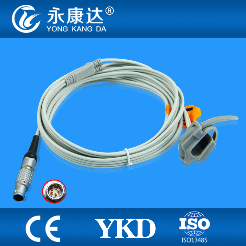Monitor for Goldway UT4000F Spo2 Sensor Cable Neonate Silicon Wrap type mental 5pin