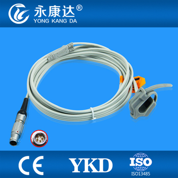 Monitor for Goldway UT4000F Spo2 Sensor Cable,Neonate Silicon Wrap type,mental 5pin