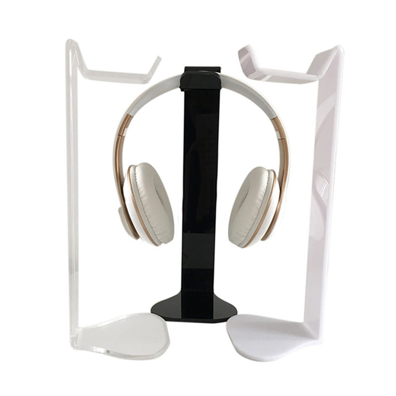 VOBERRY Black Universal Acrylic Headphone Stand Head Holder Display Hanger For Sony AKG And Others High Quality