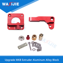 Upgrade MK8 Extruder Aluminum Alloy Block Red Bowden 3D Printer For 1.75mm Filament Kit Right Left Hand Part For ender 3 reprap kossel 3d printer aluminum alloy bowden extruder for 1 75 3 mm filament including 42 stepper motor