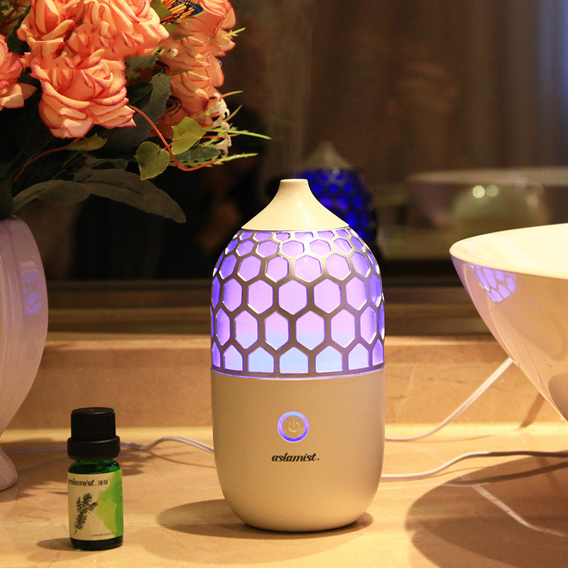 New 90ML Household Aroma Diffuser Air Humidifier Mute Fine Fog Ultrasonic Aromatherapy Essential Oil Diffuser Colorful Light floor style humidifier home mute air conditioning bedroom high capacity wetness creative air aromatherapy machine fog volume