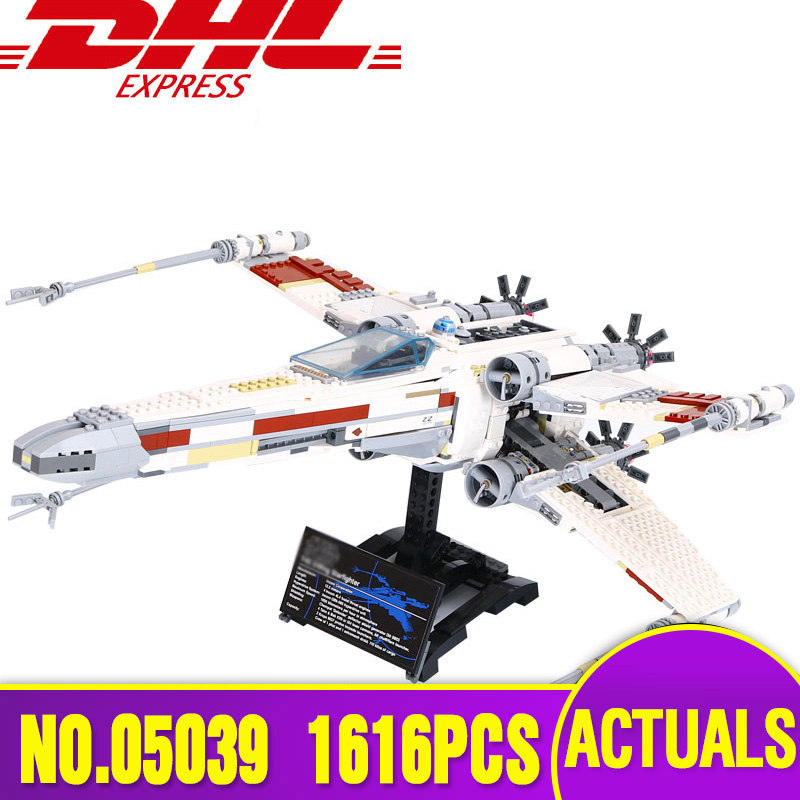 Lepin 05039 Star Series The Wars X Red Five Starfighter wing Set Building Blocks Bricks Toys Legoinglys 10240 Christmas Gift lepin 05039 star wars red five x wing starfighter figure blocks construction building bricks toys for children compatible legoe