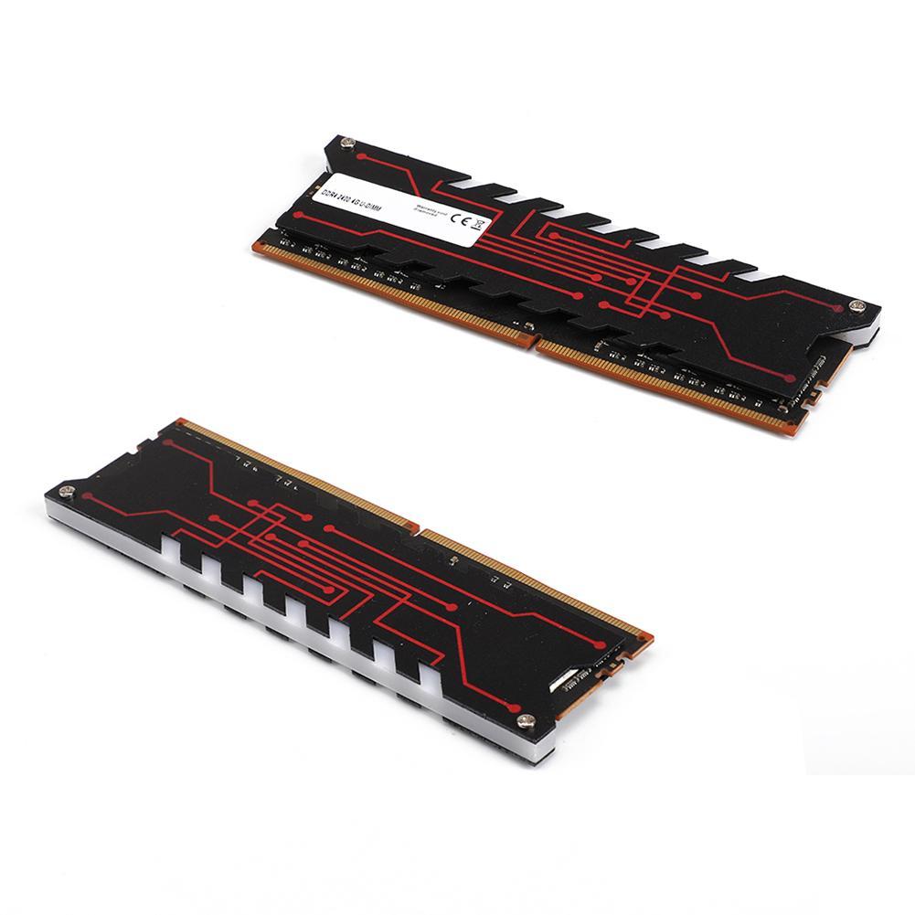 Nouveau 4/8 GB DDR4 2400 MHz 284Pin DIMM ordinateur de bureau carte mère mémoire RAM dissipateur thermique