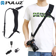 PULUZ Camera strap Belt For Canon Quick Release Hook Anti-Slip Soft Pad Nylon Breathable Curved Strap+Metal