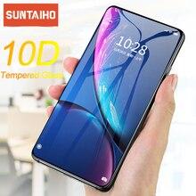 Suntaiho 10D Gehard Glas voor iPhone 11 Pro Max X XR XS Volledige Gebogen Anti Explosie Screen Protector film voor iPhone 11 8 7 6S