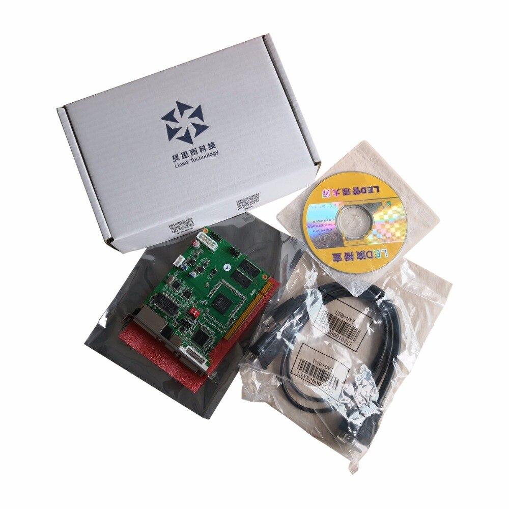 Linsn ts802d carte d'envoi pour contrôleur d'affichage vidéo rvb ts802 linsn remplacer le système de contrôle linsn ts801 ts801d carte d'envoi-in Écrans from Electronique    3