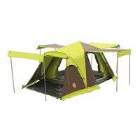 DESERTCAMEL CS090 Tự Động Layers Đúp Lều Di Động Bốn Cửa Vuông Roof Tent Với Thoáng Khí Muỗi Net Đối Cắm Trại