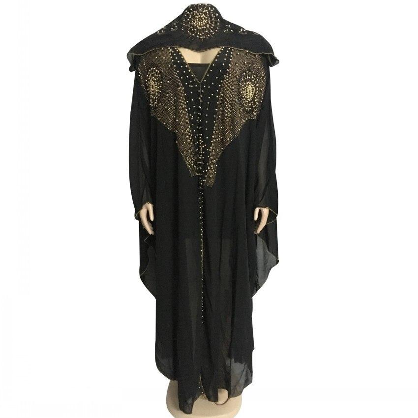 Beading Robes Dubai Kaftan Dress Muslim Party Abaya Women Arabic Cardigain Patchwork Turkey Islam Prayer Caftan