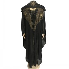 Kralen Robes Dubai Kaftan Jurk Moslim Party Abaya Vrouwen Arabische Cardigain Patchwork Turkije Islam Gebed Caftan Marocain Jurken