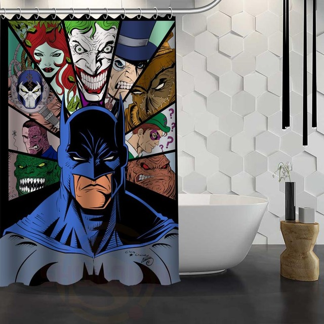 Hot Sale Custom Batman Shower Curtain Waterproof Fabric Shower ...