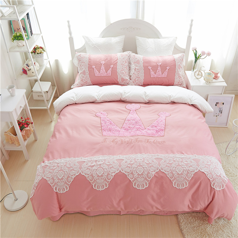 4pcs Princess style bed linen set the queen pattern bedding sets 100%cotton bedsheet girls bedclothes Queen King duvet cover4pcs Princess style bed linen set the queen pattern bedding sets 100%cotton bedsheet girls bedclothes Queen King duvet cover