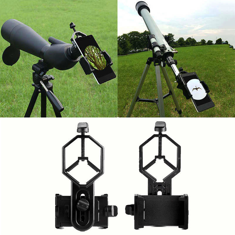 Image 4 - Free shipping!Spotting Scope Cell Phone Holder Astronomical Telescope Universal Stand Mount-in Spotting Scopes from Sports & Entertainment