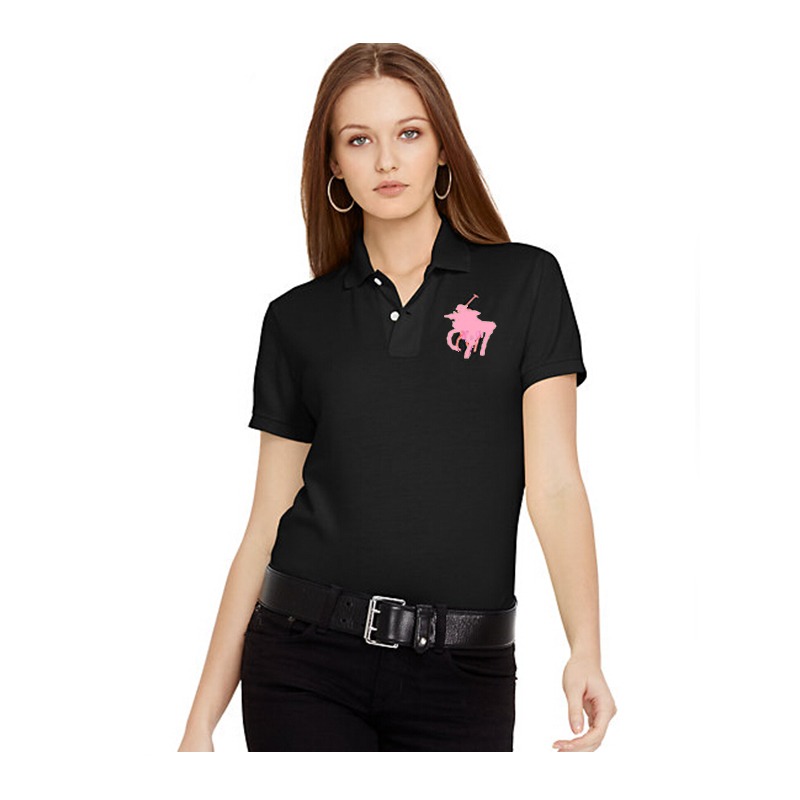 2019 Women Golf Polo Shirts Short Sleeve Casual Women Shirts Solid Tees Cotton Polo Women Shirts Turn-down Neck Female Shirts