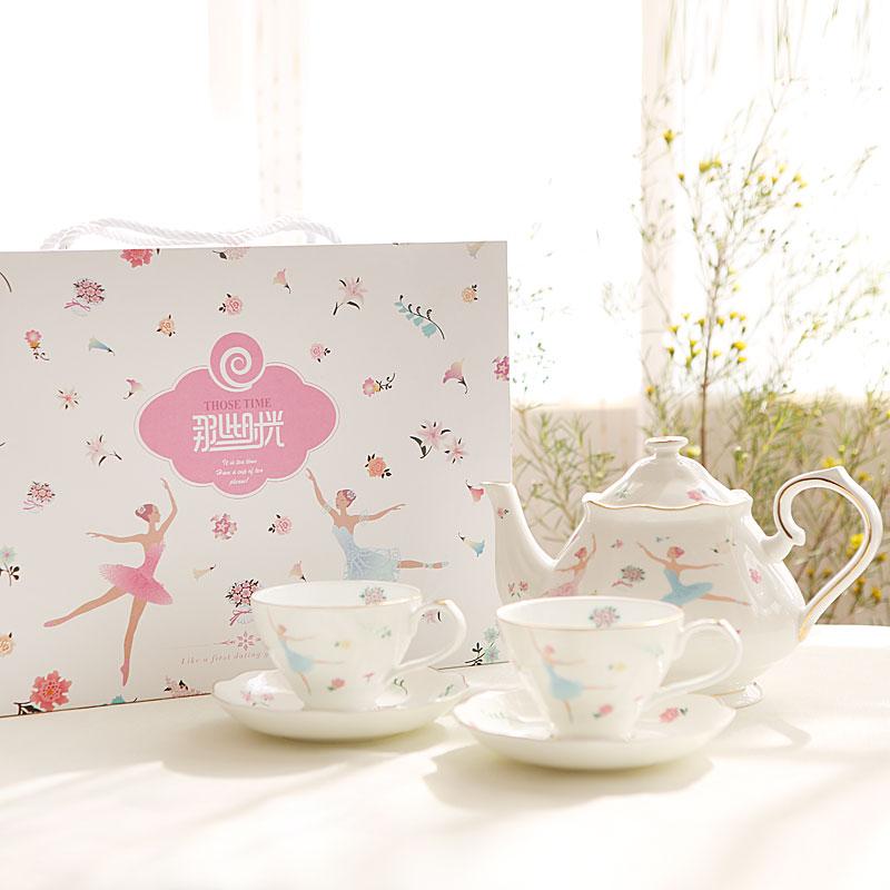 2017 британский кофе чашка блюдо костяного фарфора чайник Европейский черный послеобеденный чай балетные кофе чайный сервиз