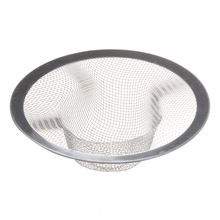 Kitchen Basket Drain Garbage Stopper Metal Mesh Sink Strainer