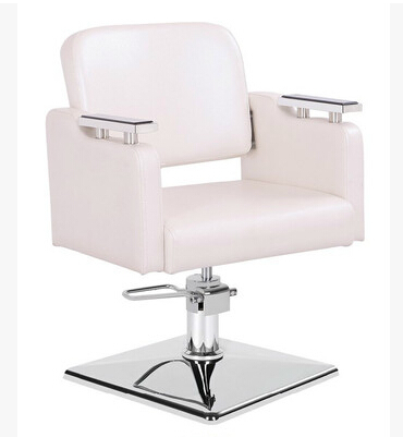 Купить с кэшбэком Pure white factory direct 360 degree rotation of the seat upscale salon chair barber chair haircut chair with armrests