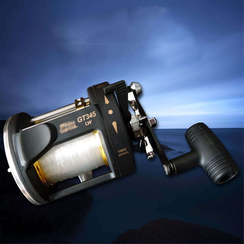 New Full Metal Reels GT345 Drag Boat Fishing Reel 2 Shaft Boat Reel Casting Reel Saltwater Trolling Wheel all metal st700lr jigging force reel jig reels boat trolling fishing reel sea wheel rustproof casting drum reel