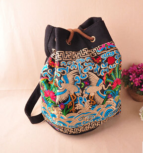 Free Shipping !New nation type Embroidered bags national trend handmade embroidered  messenger bag double faced embroidery