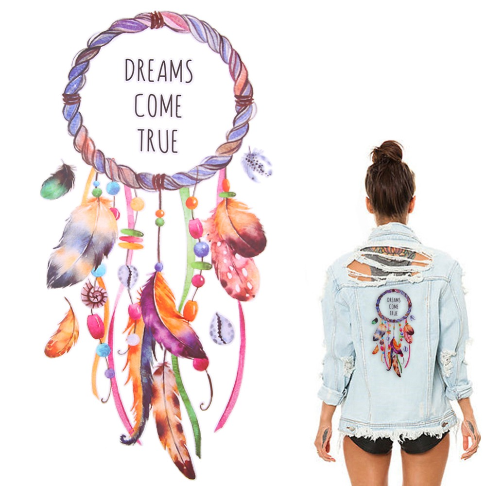 3D Rose Dreamcatcher Iron-on Patches DIY Clothes Sticker for Patchwork Clothing Embroidery Tool Quliting Supplies ...