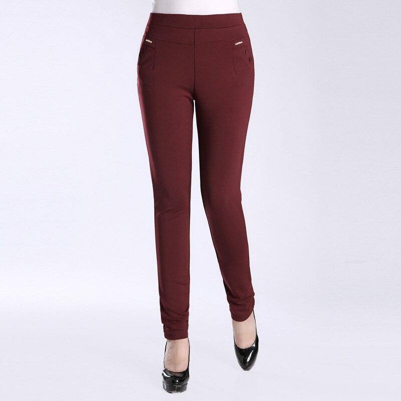 Women   Pants   &   Capris   Slim summer Solid color High waist thin Pencil   pants   Skinny casual   pants   Woman NXXK0058