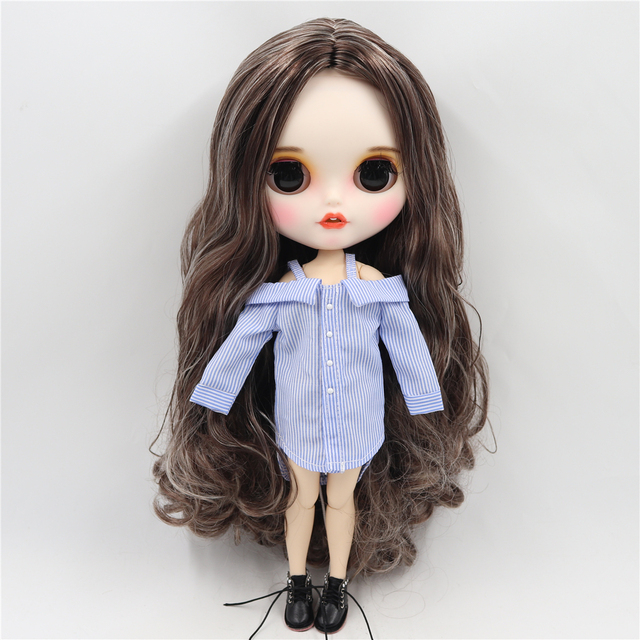 Jeane – Premium Custom Blythe Doll with Clothes Smiling Face