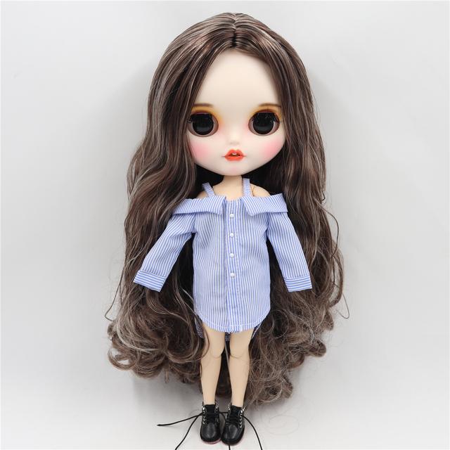 Jeane - Premium Custom Blythe lutka s odjećom Nasmiješeno lice