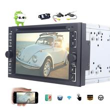 "Wireless Reversing Camera+Android 6.0 Car DVD Player Quad Core 6.2"" Car Stereo GPS Navigation In Dash Bluetooth Car Radio Audio"