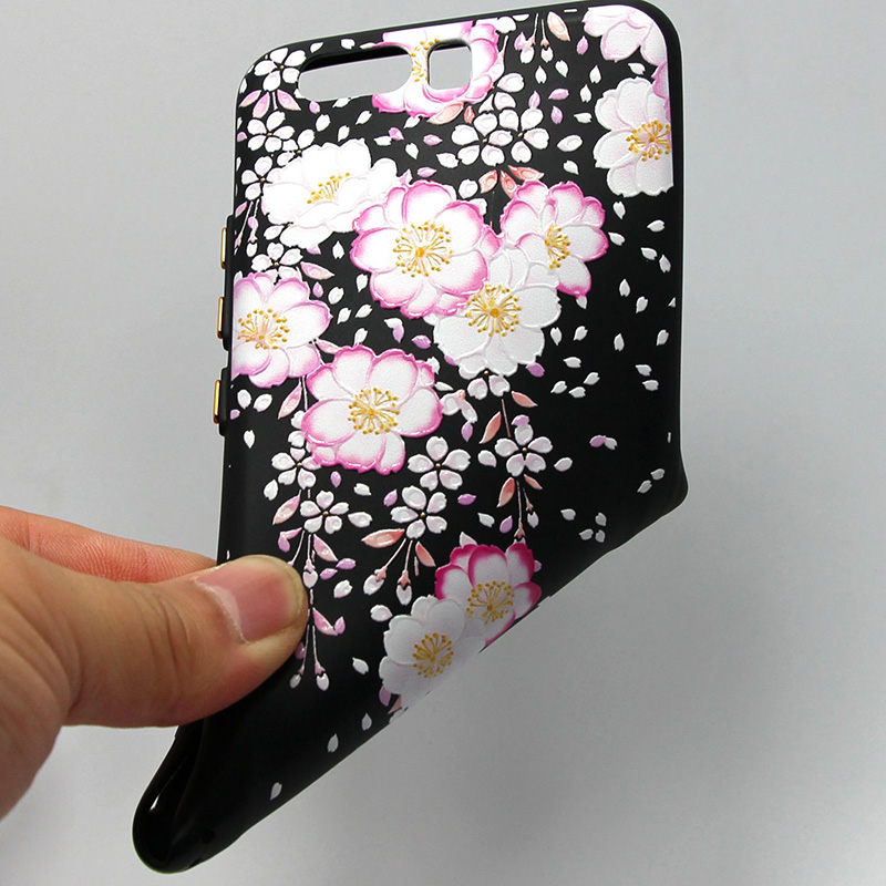 3D Relief flower silicone  case huawei p10 (33)