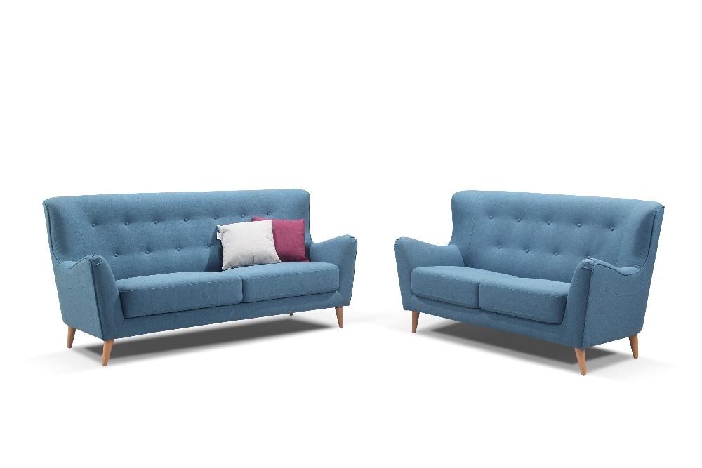 €254.99 |Meubles de canapé en tissu de salon moderne de l\'europe du nord  avec 3 2 1 siège 1566-in Canapés salle de séjour from Meubles on AliExpress