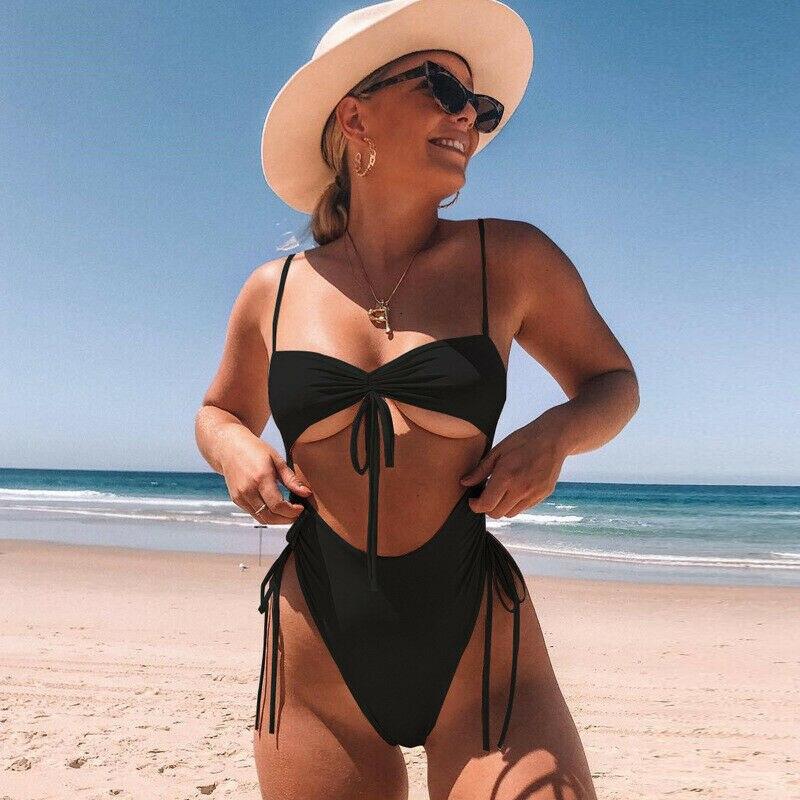 Fashion Women One Piece Swimsuit Sexy Ladies Summer Beach Swimwear Push-Up Padded Bra Monokini Bathing Suit Bikini