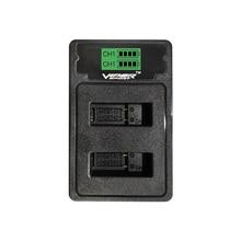 Viper двойное зарядное устройство с usb-кабелем тип-c и usb-портом Mirco для GoPro HERO7 Black GoPro HERO6 Black GoPro HERO5 Black