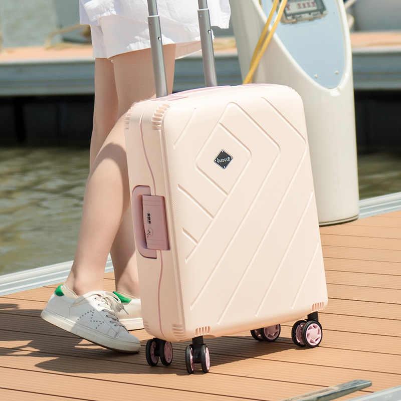 """Bagagem pp novo estilo simples bagagem 20 """"24"""" 28 """"polegadas trole mala de viagem saco de bagagem rolando bagagem com roda giratório"""
