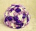 2017 Свадебный Букет Дешевые Фиолетовый и Кот Свадебный Букет Свадебные Цветы Свадебные Букеты Искусственные букет де брак