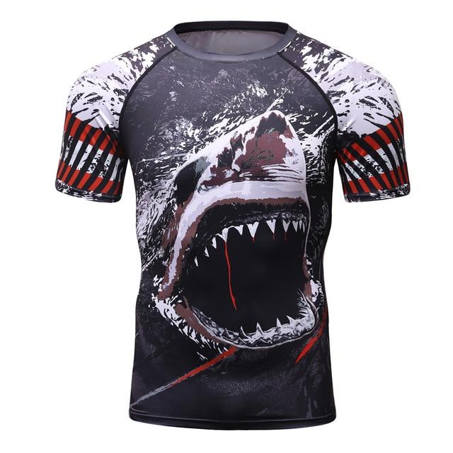 1e383c7118db 2018 Mens Fitness Compression O-Neck Long sleeves T Shirt Animal 3D Prints  MMA Rashguard Tights Skin Man T-Shirts