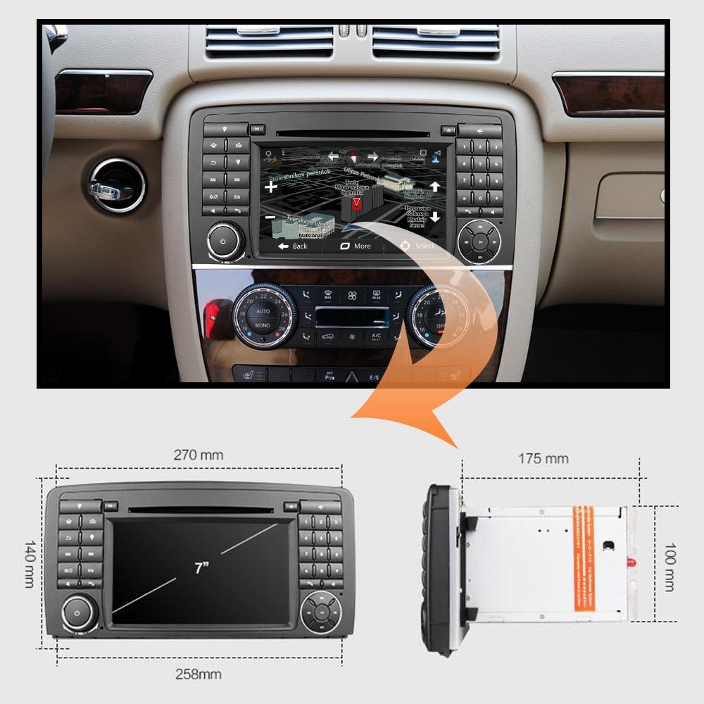 Eunavi Auto Multimedia-Player Auto Radio GPS Android 9.0 2 Din Stereo System Für Mercedes/Benz/AMG R Klasse w251 R300 R350 R63 Wifi