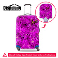 Dispalang 3d roxo plantas impressão bagagem de viagem mala capa protetora de chuva elastic cobre para 18 20 22 24 26 28 30 ''caso