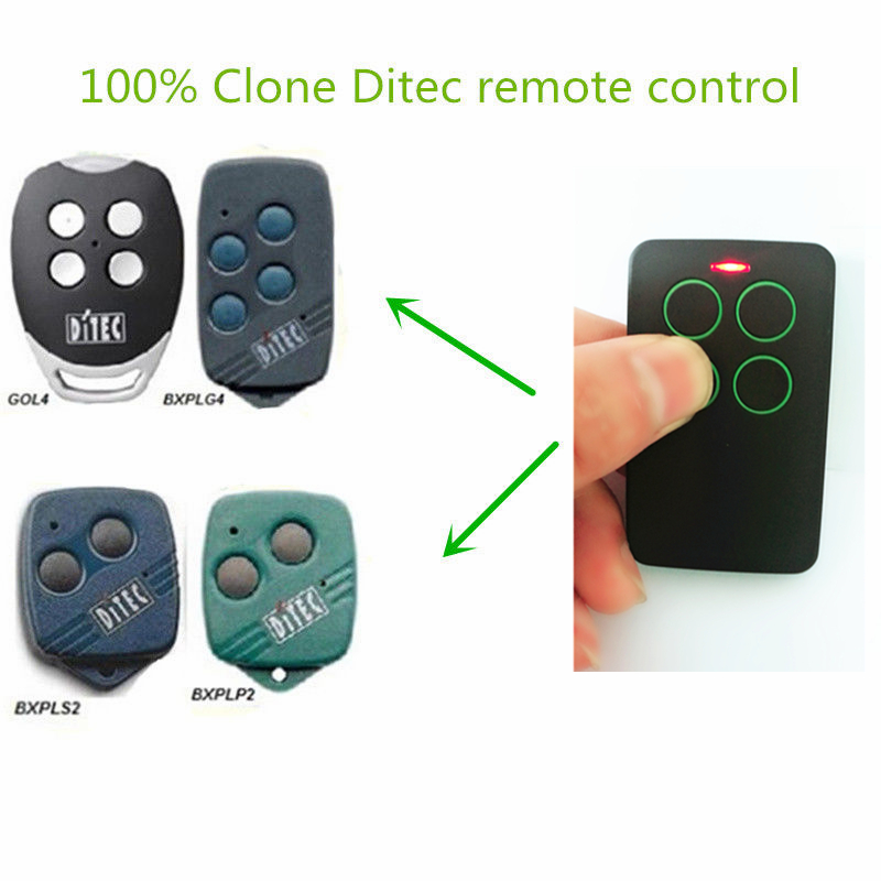2x Hot Sale Ditec Gol4 Remote Control Transmitter Rolling Code Key Automatic Electric Gate Free Shipping Cool In Summer And Warm In Winter