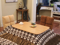 4pcs/set Modern Wood Table Kotatsu Set 1 Table 2 Futon 1 Heater Japanese Style Living Room Furniture Table Center Table Wooden